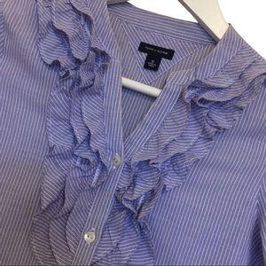 TOMMY HILFIGER GIRLS DRESS | size 12 frills blue
